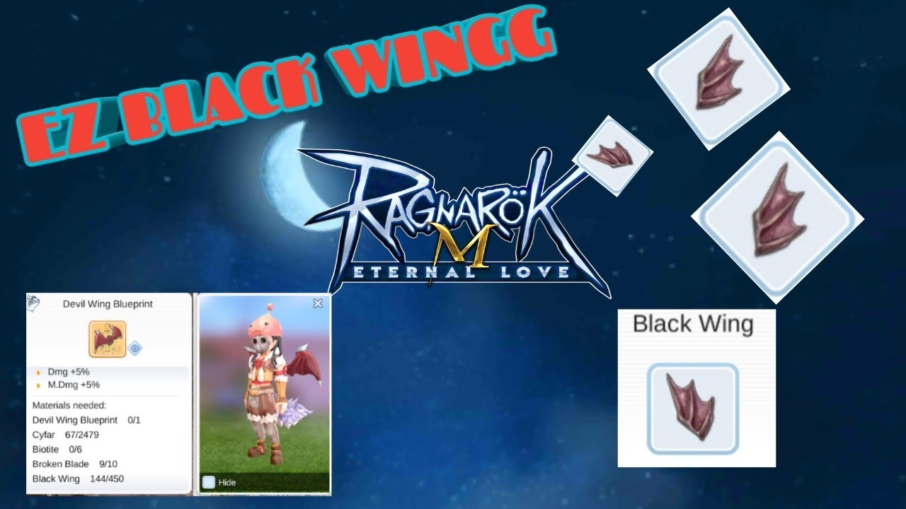 HOW TO GET 50+ BLACK WING A DAY!! RAGNAROK MOBILE ETERNAL LOVE