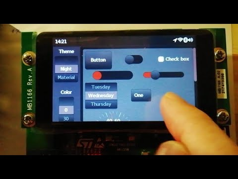 STM32F769 Discovery GUI with LittlevGL