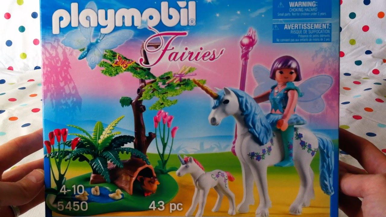 Playmobil Fairy Aquarella in The Unicorn Meadow Playset
