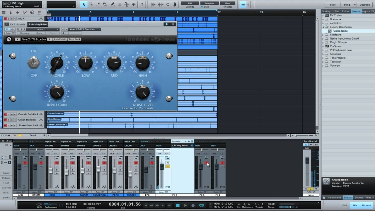 Add vinyl noise to your Hip Hop Drums with Analog Noise Vst Plugin |  Audio2torials 2012