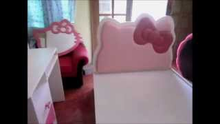 Hello Kitty Double Bed, Comp Table, Ball Design Comp Table.mp4