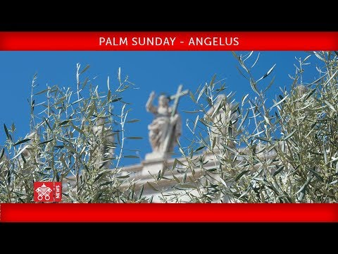 Pope Francis - Celebration of Palm Sunday - Angelus prayer 2018-03-25