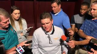 Bob Shoop addresses the Vols' final play against Florida