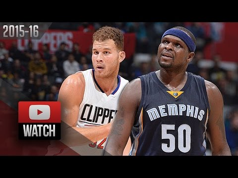 Blake Griffin vs Zach Randolph Duel Highlights (2015.11.09) Clippers vs Grizzlies - SICK!