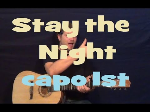 Stay The Night (Zedd) Easy Guitar Lesson Strum Chord Licks How to Play Tutorial