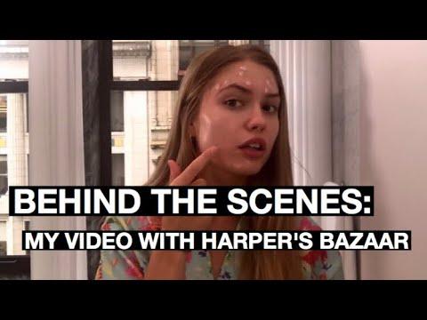 BEHIND THE SCENES A SHOOT WITH HARPER'S BAZAAR