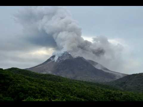 Time lapse movie of pyroclastic flows at Soufrière Hills, Montserrat