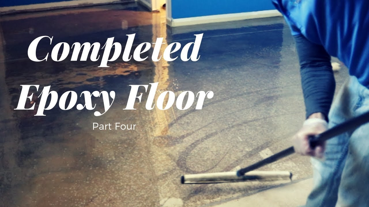 Completed Epoxy Floor Part 4 Vlog 177