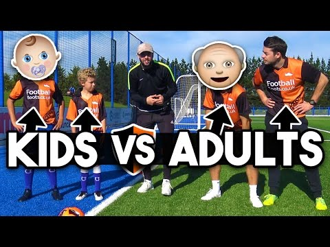 Thumbnail: Football Challenges Vs Subscribers! Kids v Adults - Who Wins?