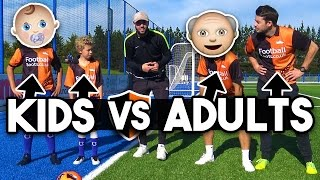 Football Challenges Vs Subscribers! Kids v Adults - Who Wins?