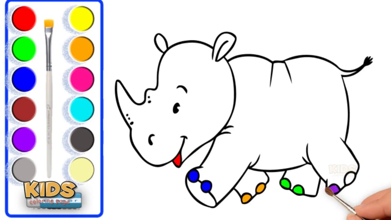 How To Draw A Rhino Pokemon Learn Color Art For Kids Doraemon Super Coloring Pages For Kids Youtube