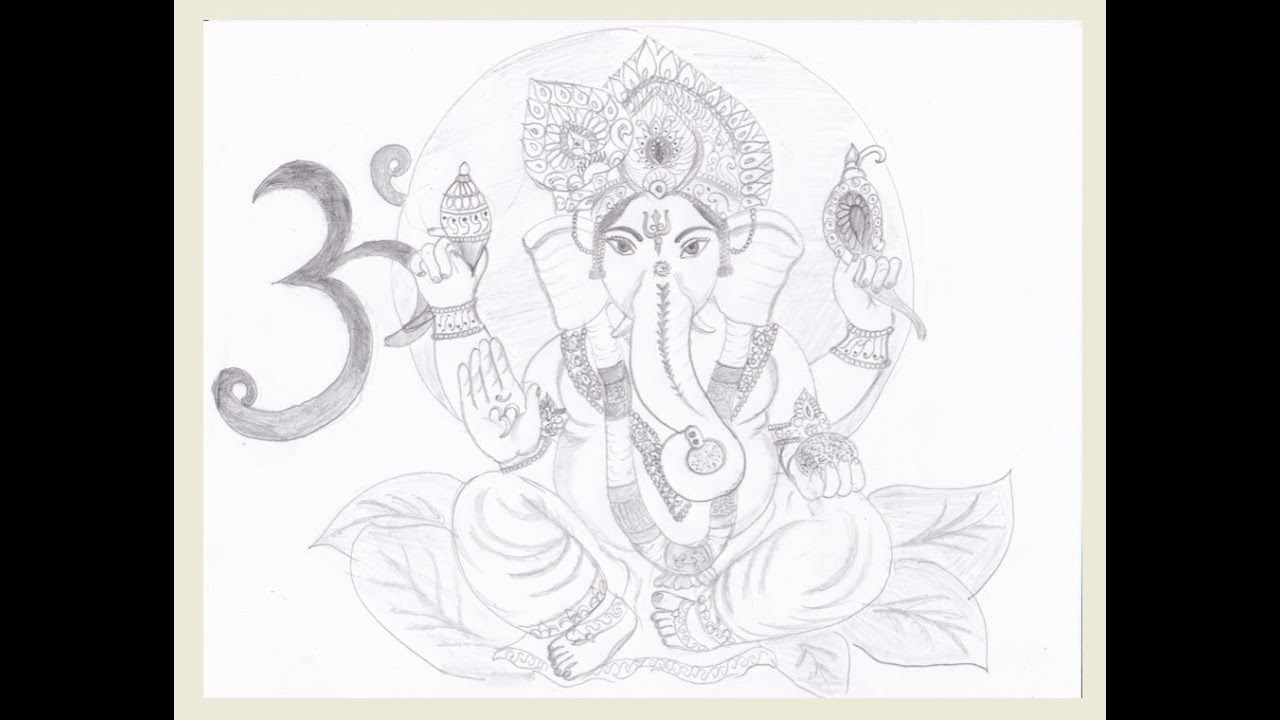 Drawing lord ganesha youtube