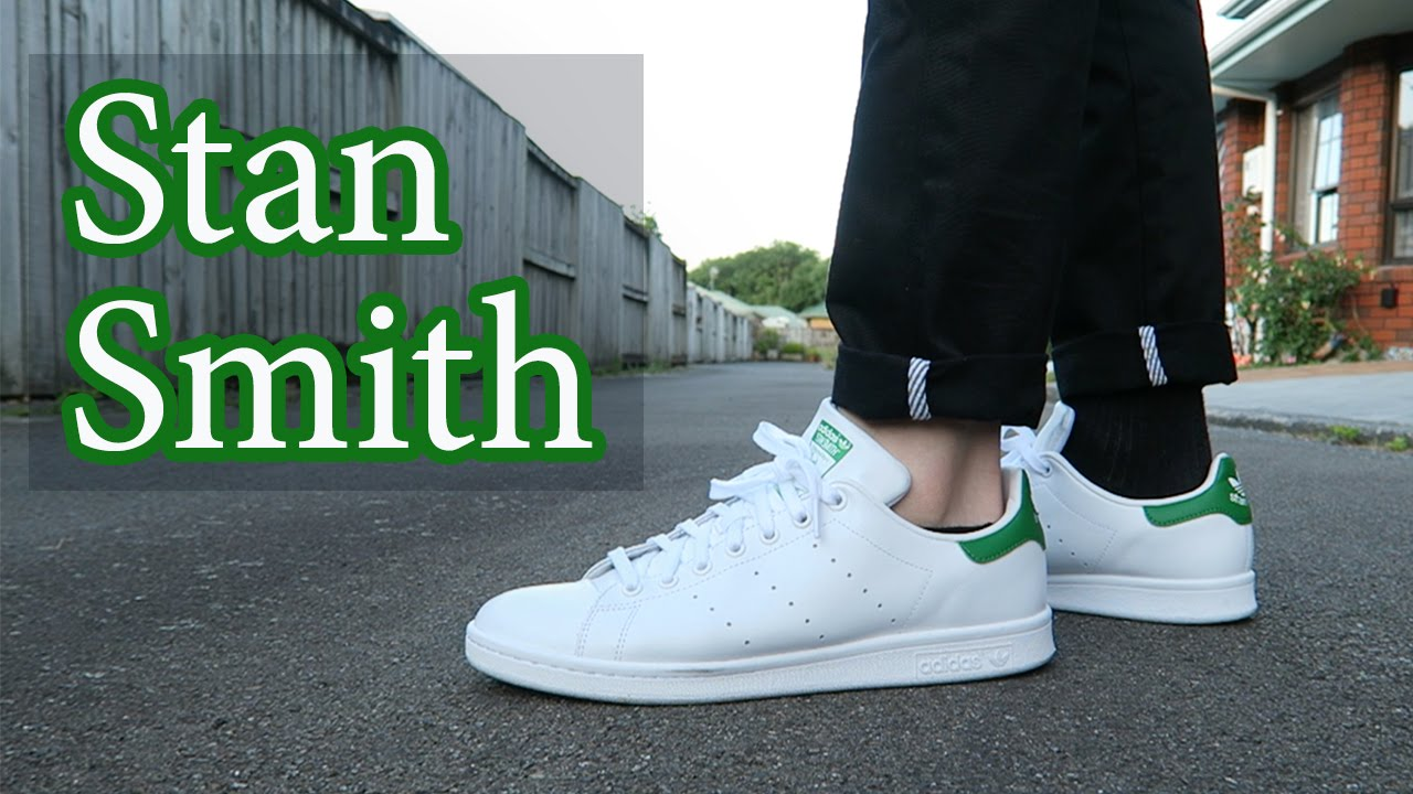 construir Consciente de objetivo  Adidas Stan Smith Close Up & On-Feet with Different Pants - YouTube