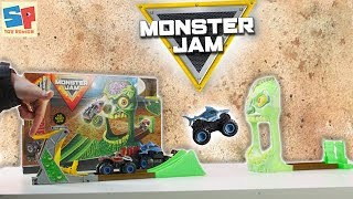 Zombie Madness!! Monster Jam Playset Unboxing & Toy Review   Sneak Peek