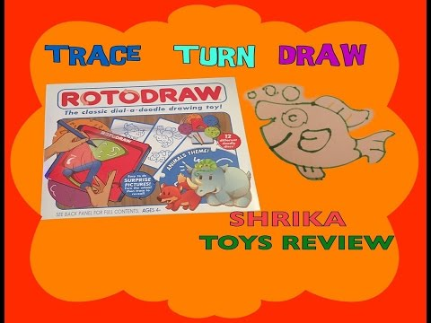 ROTODRAW TOY REVIEW - A Classic Dial A Doodle Drawing Toy | TRACE - TURN - DRAW Amazing Characters