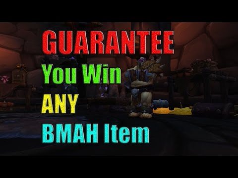 Guarantee you win ANY item on the Black Market Auction House
