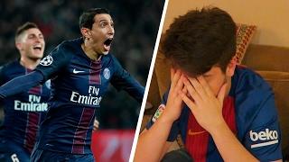 Reacciones de un fan del barcelona psg 4-0 barcelona - champions league 2017