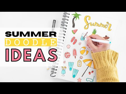 19-bullet-journal-sommer-doodle-ideen- -einfach-und-schnell- -doodle-with-me