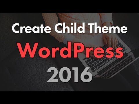 How to Create a Child Theme for WordPress Twenty Sixteen Theme from YouTube · Duration:  11 minutes 35 seconds
