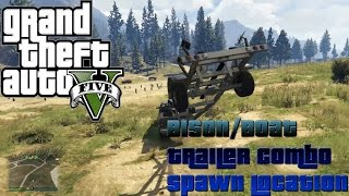GTA 5 Online - NEXT GEN - BISON/BOAT TRAILER COMBO SPAWN LOCATION