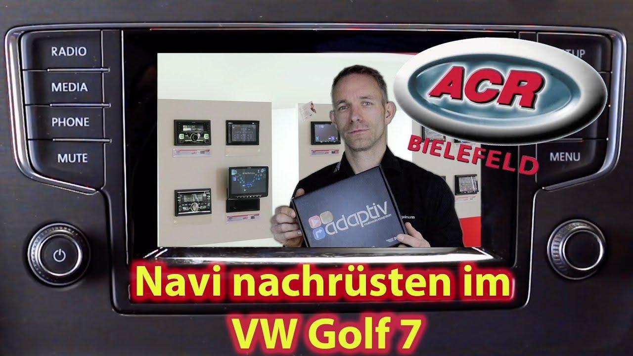 nachr stung der navigation beim vw golf 7 mit dem composition media radio youtube. Black Bedroom Furniture Sets. Home Design Ideas
