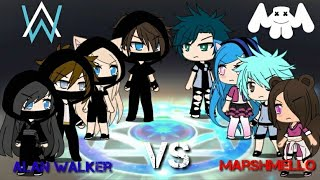 Download lagu Alan Walker VS Marshmello SINGING BATTLE Gacha Life