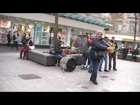Cool Band playing in Liverpool City Center