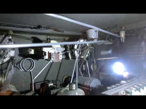 Close look inside 200 Watt Radiotelegraph  from Radiomarine Corp 1944