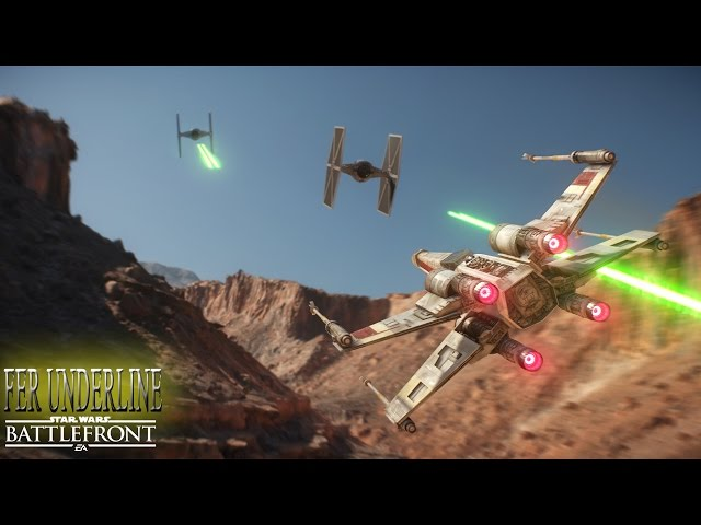 Star Wars Battlefront - Jogando Com Nave X-wing - Squadron Fighter Game Play