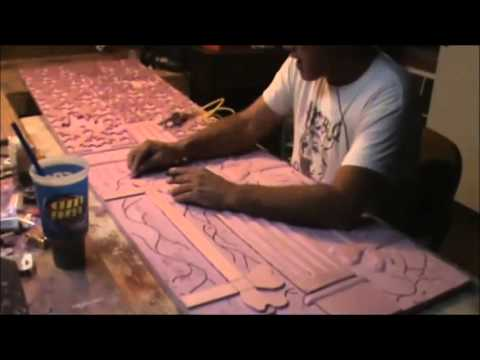 Foam Board Carving PT 3 12-16-13