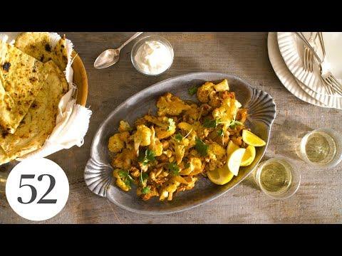 Sheet-Pan Chicken and Cauliflower Bake