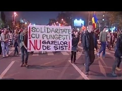 Romania: a small village's anti-fracking protest spreads to the capital