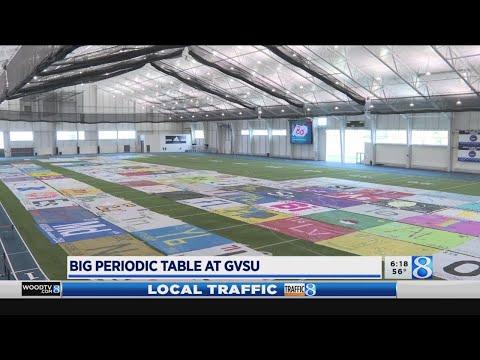 WOOD Radio Local News - Folks aim to create largest periodic table at GVSU