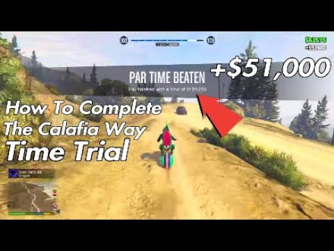 How To Complete The Calafia Way Time Trial In Gta 5 Online