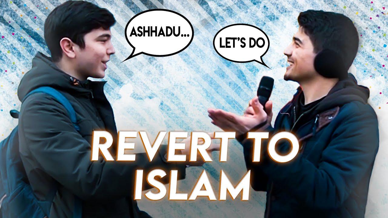 Unbeliever University Student Became Muslim - Street interview