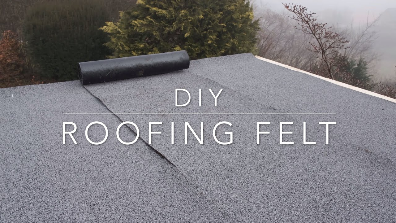 Diy Bitumen Roofing Felt Youtube
