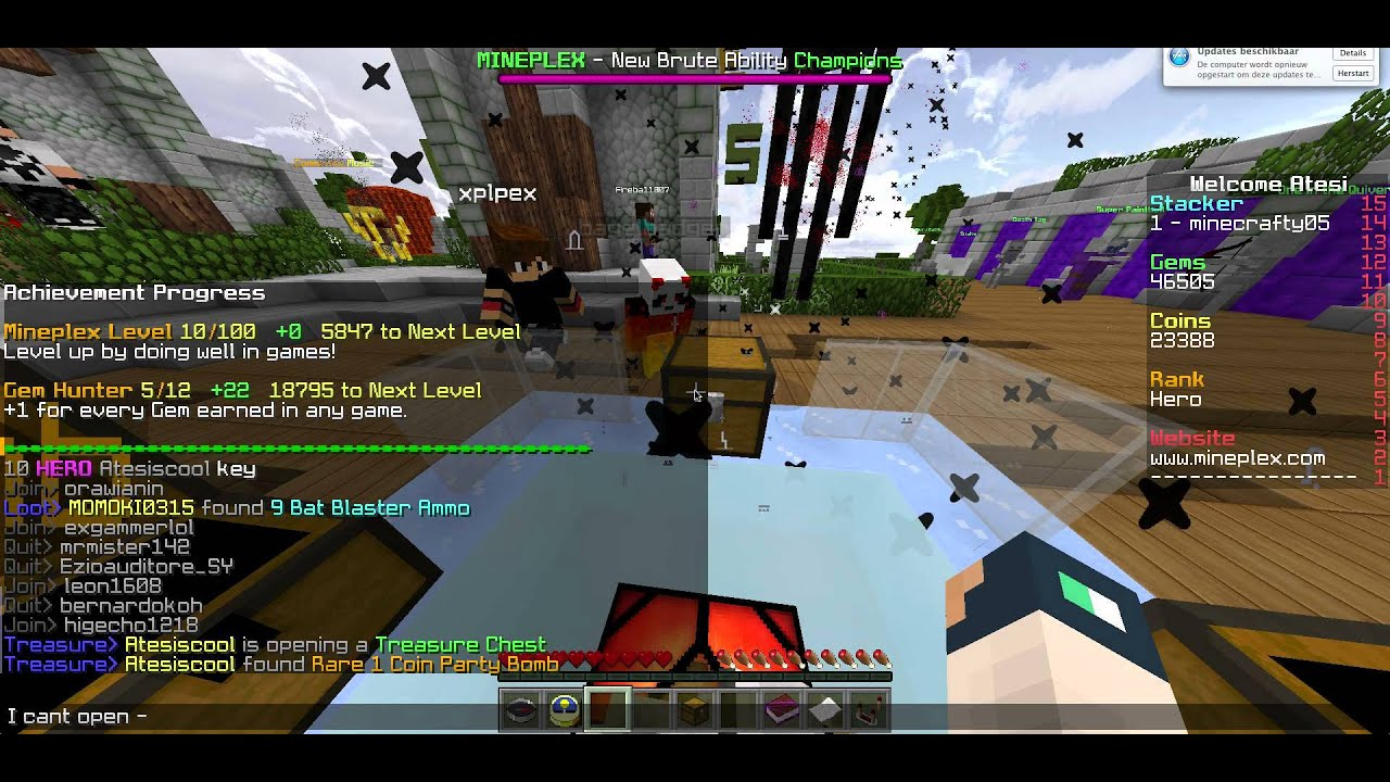 how to get free treasure in mineplex