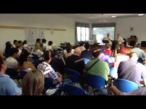 John Blanchard speaking in Porto Mantovano
