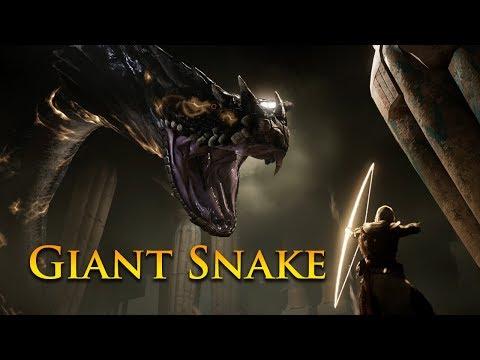 Assassin's Creed Origins | Giant Snake Boss Fight