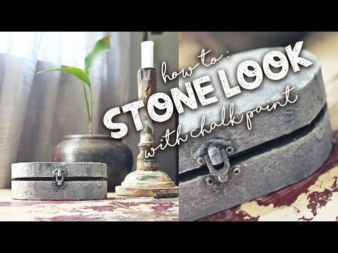 How to: Stone look with Chalk paint