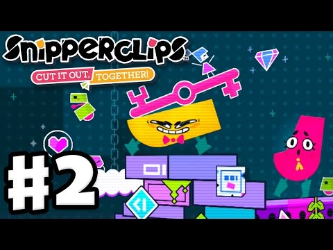 Snipperclips - Gameplay Walkthrough Part 2 - Retro Reboot! Cut It Out, Together! (Nintendo Switch)