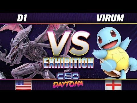 D1 (Ridley) vs Virum (Pokémon Trainer) - SSBU Demo - CEO 2018