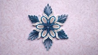 Christmas Snowflake in Quilling technique