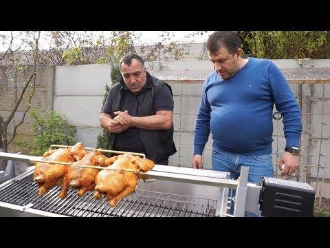 Приготовление курицы-гриль. Эксперимент на новом мангале.