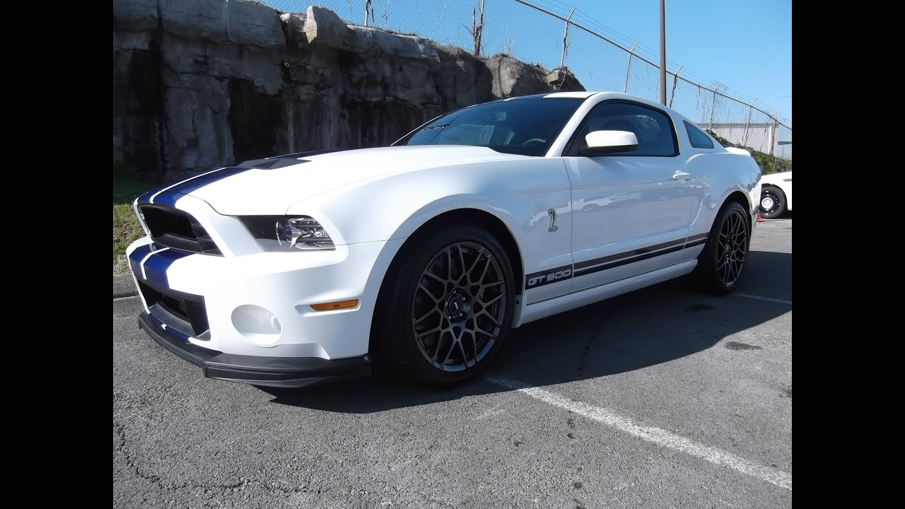 2013 FORD MUSTANG SHELBY GT500 PERFORMANCE WHITE 821A
