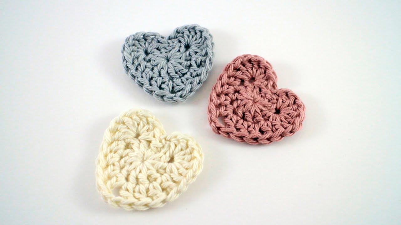 How to Crochet a Heart Left Hand - YouTube