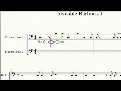 How To Write 8th Note Rhythms with Invisible Barline