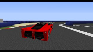 Minecraft 1.7.10 Driving a LaFerrari from Pokers Garage