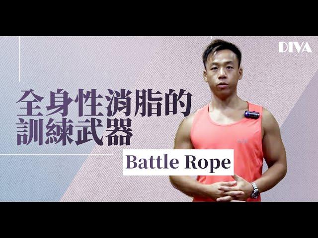 全身性消脂的訓練武器-Battle rope
