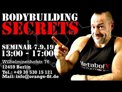 Berlin - BodyBuilding Secrets - Das ganz spezielle Seminar
